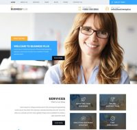 دانلود رایگان PSD قالب Business Plus