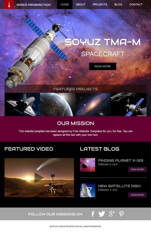 دانلود رایگان قالب واکنشگرای علوم فضا