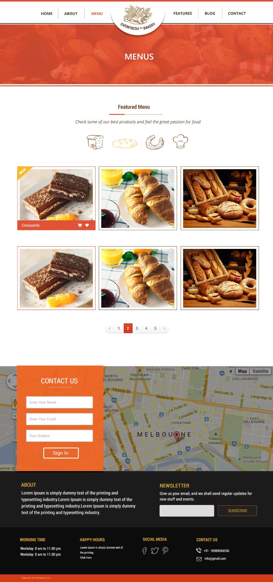 فایل لایه باز قالب نانوایی Bakery Template
