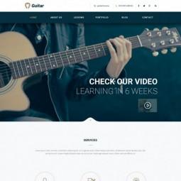 دانلود فایل لایه باز قالب سایت Guitar