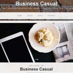قالب رایگان Business Casual