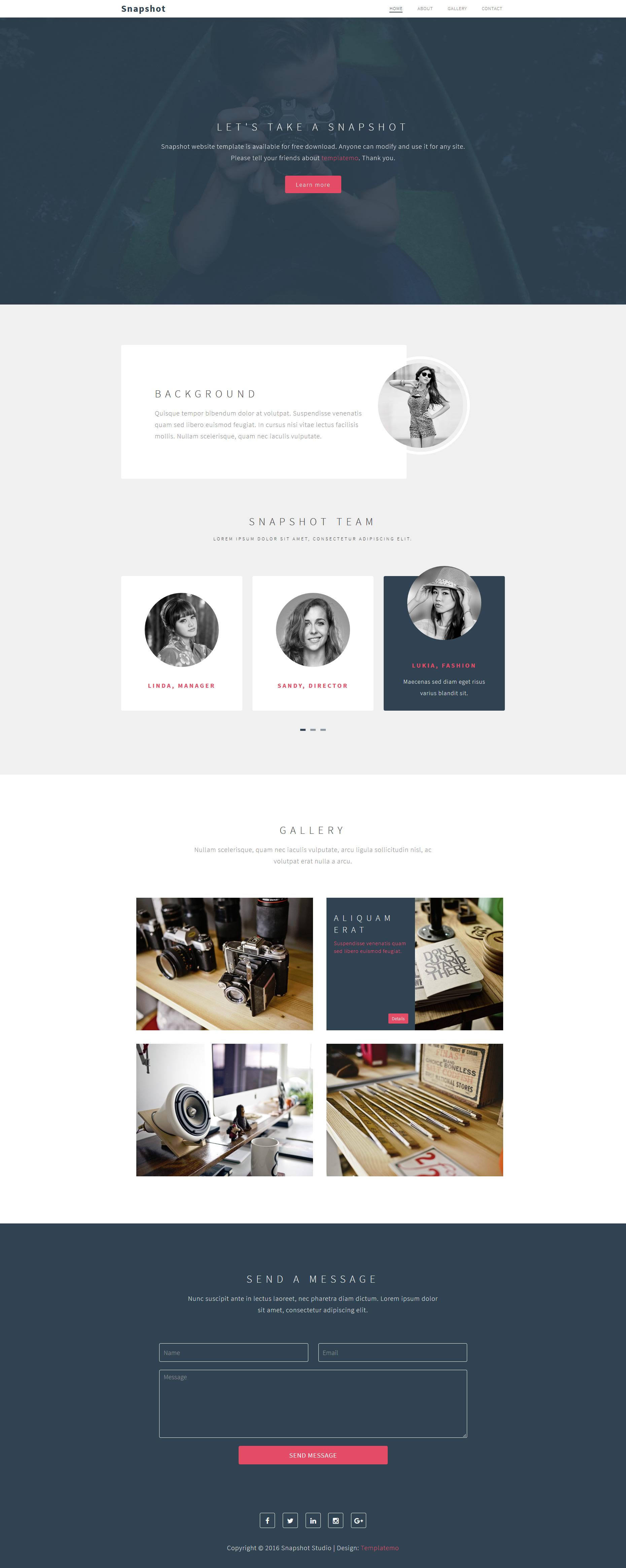 قالب زیبای شرکتی Snapshot - طراحی سایت