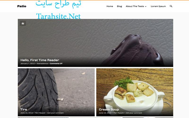 قالب زیبای گالری عکس برای وردپرس فارسی