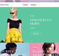 فایل لایه باز قالب سایت فروشگاهی مد و لباس